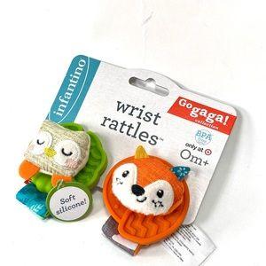 Infantino Wrist Rattles Soft Silicone NWT